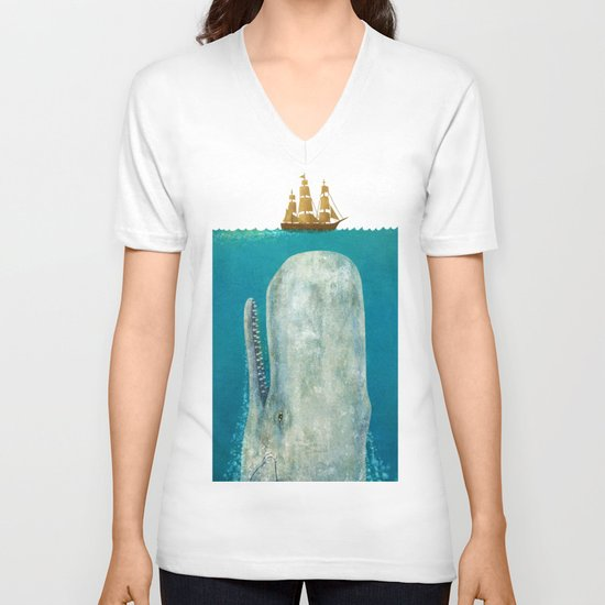 The Whale  V-neck T-shirt