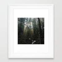 Above And Below Framed Art Print