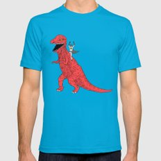 Dinosaur B Forever Mens Fitted Tee Teal SMALL