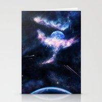 Space Scene Zero One Stationery Cards