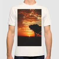 Firey Dragon  Mens Fitted Tee Natural SMALL