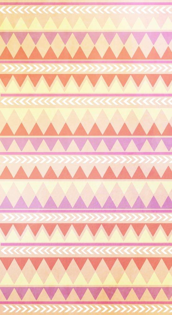 Summer Aztec Pattern Art Print