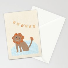 lion collage Stationery Cards