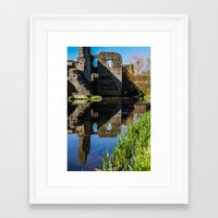Reflecting On The Past Framed Art Print