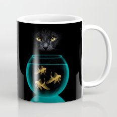 Black Cat Goldfish Mug