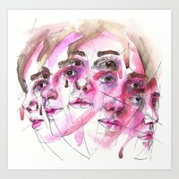 Face Me II Art Print
