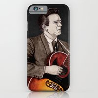 iPhone & iPod Case featuring Johnny Cash by Daniel Cash