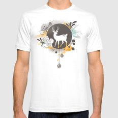 Hi Deer ! Mens Fitted Tee SMALL White