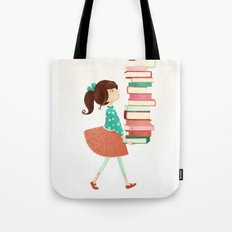 Library Girl Tote Bag