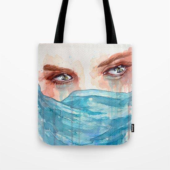 Forgotten, watercolor painting Tote Bag