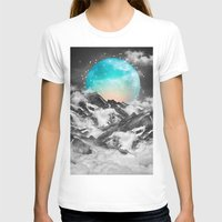 hearts T-shirts featuring It Seemed To Chase the Darkness Away (Guardian Moon) by soaring anchor designs