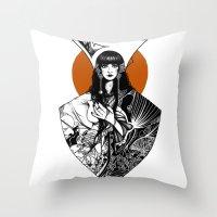 Lady Detail (alternate V… Throw Pillow