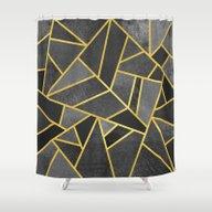 Shower Curtain featuring Grey Stone by Elisabeth Fredriksso…