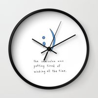 the semicolon was getting tired of winking Wall Clock