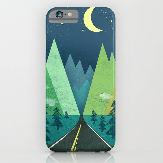 The Long Road at Night iPhone & iPod Case