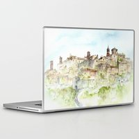 italy Laptop & iPad Skins featuring Lucignano, Italy by zawij