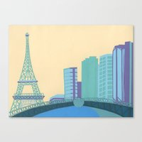 Pont Mirabeau Bridge Canvas Print
