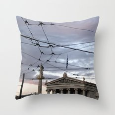 Wired Sky Throw Pillow