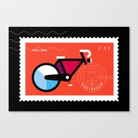Postcards from Amsterdam / Bicycle Canvas Print