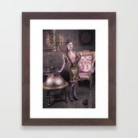 DREAMS OF GOLD AND PINK Framed Art Print