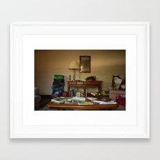 Friend's living room Framed Art Print