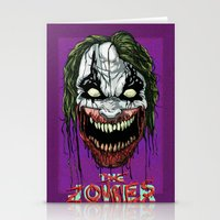 Joker Zombie Stationery Cards