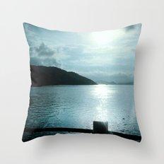 SUNSET RIVER Throw Pillow