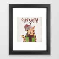PURR'SENTS! Framed Art Print