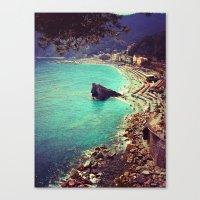 Vintage Beach Days Canvas Print