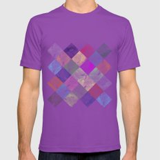 Colorful geometric patterns II  Mens Fitted Tee Ultraviolet SMALL