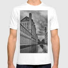 Yorkshire Mills SMALL White Mens Fitted Tee