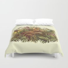 The Cottontail and the Katydid Duvet Cover