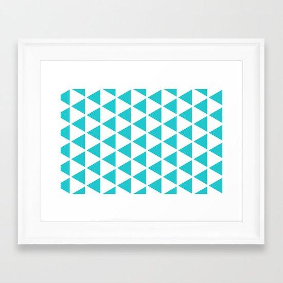 Sleyer Blue on White Pattern Framed Art Print