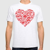 Gaming Love Mens Fitted Tee Ash Grey SMALL