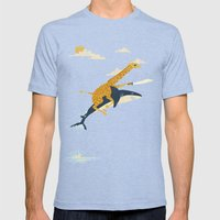 Onward! Mens Fitted Tee Tri-Blue SMALL