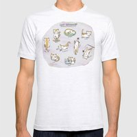Cat Activities Mens Fitted Tee Ash Grey SMALL
