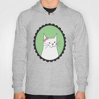 White Kitty Hoody