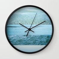 Water Study Abstract Blu… Wall Clock