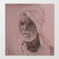 Egyptian Old Man Canvas Print