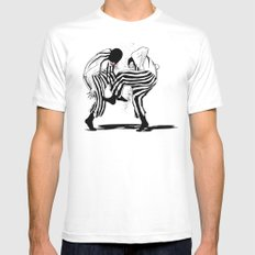 clowns White SMALL Mens Fitted Tee