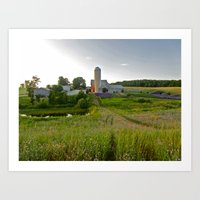 Lavender Farm Art Print