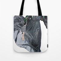 leather & ballet skeleton Tote Bag
