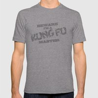 Beware I'm a Kung Fu Master Mens Fitted Tee Athletic Grey SMALL