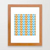 Something Fishy Zig Zag Framed Art Print