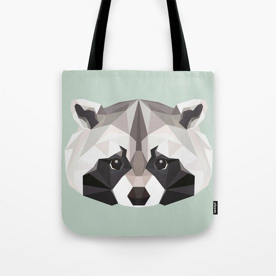 R is for Raccoon Tote Bag