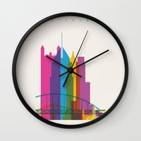 Shapes of Pittsburgh. Accurate to scale Wall Clock