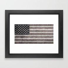 American Flag - Retro St… Framed Art Print