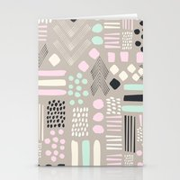 Pastel Tribal Patchwork Stationery Cards