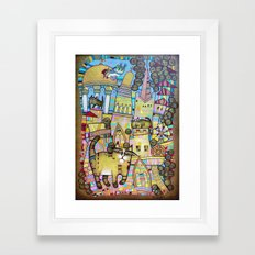 THE CITY OF 100 CATS Framed Art Print