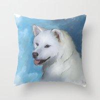 Akita Throw Pillow